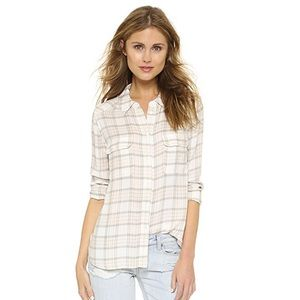 Paige Plaid Trudy Shirt Long Sleeve Size XS